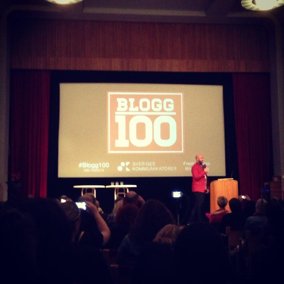 Den svenska blogghistorien på #blogg100