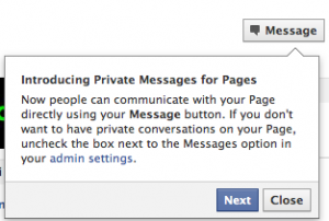 Facebooksidor får meddelandefunktion